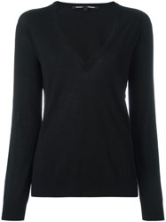 Proenza Schouler V Neck Jumper Black