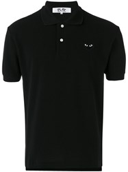 Comme Des Garcons Play Embroidered Logo Polo Shirt Men Cotton S Black