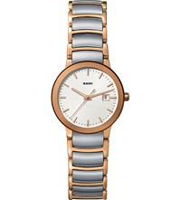 Rado R30555103 Centrix Rose Gold And Stainless Steel Watch
