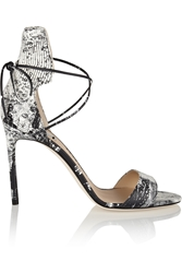 Reed Krakoff Snake Print Leather Sandals