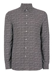 Topman Black And White Speckle Viscose Casual Shirt