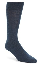 Lorenzo Uomo Men's Merino Wool Blend Socks Denim