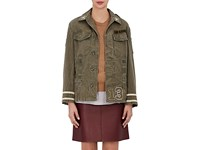 Ottotredici Women's Love Cotton Twill Field Jacket Green Dark Green