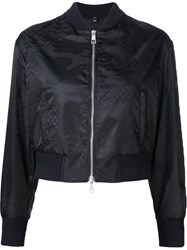 Neil Barrett Printed Bomber Jacket Black