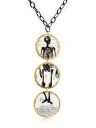 Evocateur Three Part Skeleton Pendant Necklace