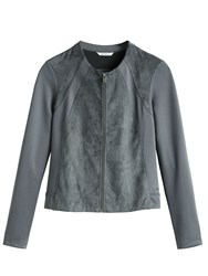 Sandwich Faux Suede And Jersey Jacket Grey
