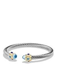 David Yurman Renaissance Bracelet With Blue Topaz Lapis Lazuli And 14K Gold Blue Silver