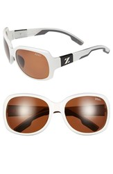 Women's Zeal Optics Polarized Plant Based Sunglasses White Gloss