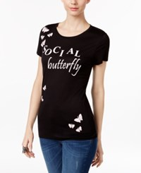 Inc International Concepts Embellished Butterfly T Shirt Only At Macy's Social Butterfly