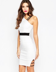 Vesper Colourblock Midi Dress Whiteblack