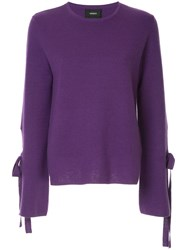 G.V.G.V. Milano Bow Knit Sweater Pink And Purple