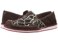 Ariat Cruiser Chocolate Chip Suede Giraffe Hair On Women's Slip On Shoes Brown