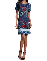 Plenty By Tracy Reese Printed Ponte Shift Dress Twilight Tile