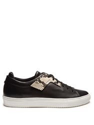 Oamc Patch Low Top Leather Trainers Black Multi