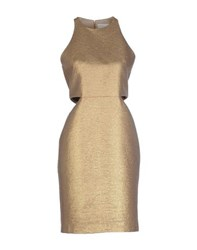 Genny Dresses Knee Length Dresses Women Gold
