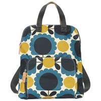 Orla Kiely Scallop Flower Print Backpack Blue Multi