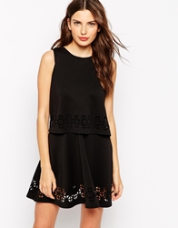 Club L Overlay Dress With Cutouts Black