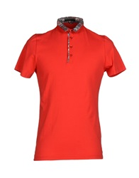 Daniele Alessandrini Homme Polo Shirts Red