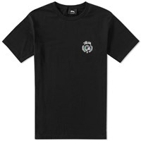 Stussy Global Wreath Tee Black