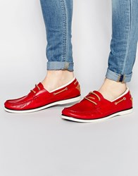 Aldo Archive Boat Shoes Red