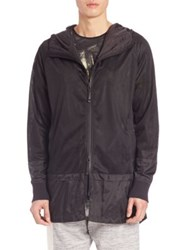 Madison Supply Hooded Mesh Jacket Caviar