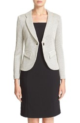 Armani Collezioni Women's Houndstooth Jersey One Button Blazer