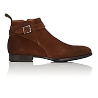 Doucal's Suede Side Zip Ankle Boots Brown
