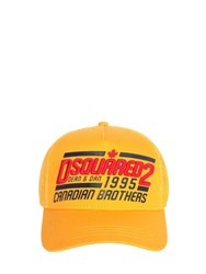 Dsquared 1995 Brothers Canvas And Mesh Trucker Hat Yellow