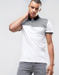 New Look Polo Shirt In White White