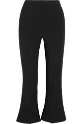 Antonio Berardi Cropped Cady Flared Pants Black