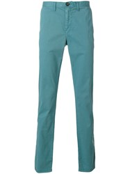 Michael Kors Straight Leg Chinos Cotton Spandex Elastane Green