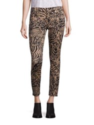 7 For All Mankind Animal Printed Pants Royal Leopard