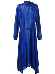 Golden Goose Deluxe Brand Longsleeved Lurex Dress Blue