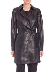 Lafayette 148 New York Jeanette Leather Trenchcoat