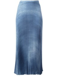 Ermanno Scervino Midi Pleated Skirt Blue