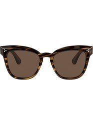 Oliver Peoples Marianela Square Sunglasses Brown