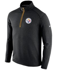 Nike Men's Pittsburgh Steelers Half Zip Dri Fit Jacket Black