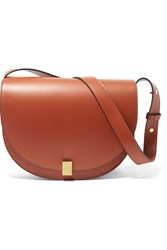 Victoria Beckham Half Moon Leather Shoulder Bag Brown