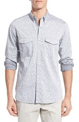 Men's French Connection 'Driver' Trim Fit Long Sleeve Chambray Sport Shirt
