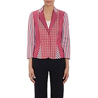Philosophy Di Alberta Ferretti Women's Mixed Pattern Jacquard Blazer Size 0 Us No Color