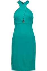 Alice Olivia Tai Cutout Stretch Ponte Dress Teal