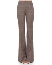 Akris Farrah Glen Plaid Flare Pants