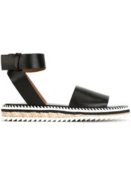 Givenchy Braided Sole Sandals Black
