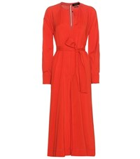 Isabel Marant Dayna Silk And Virgin Wool Blend Dress Red