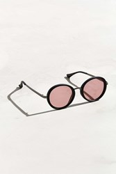 Urban Outfitters Opaque Round Metal Bridge Sunglasses Black