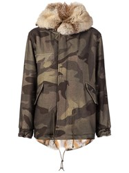 Mr And Mrs Italy Camouflage Print Parka Green