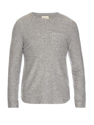 Oliver Spencer Lark Woven Crew Neck Top Grey