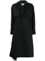 Msgm Sequin Trench Coat Black