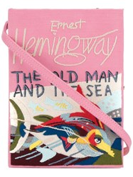 Olympia Le Tan The Old Man And The Sea Book Clutch Pink