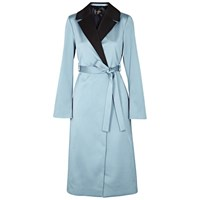 Stine Goya Leanne Textured Satin Crepe Coat Light Blue